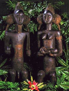 This statue of African fertility is said to bring couples good luck in wanting to conceive.